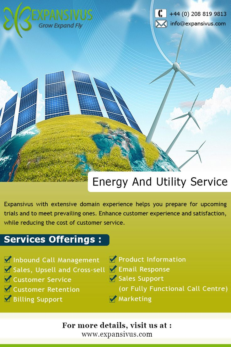 Sustainable energy on consistently competitive prices by Expansivus..www.expansivus.com/energy-and-utilities-services.html  #Gas #Electricity