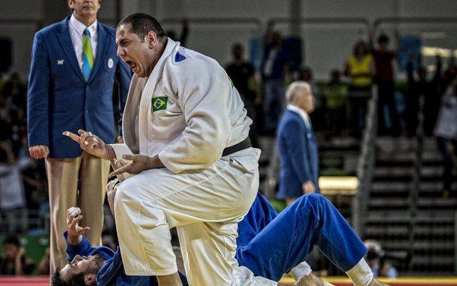 Rafael Silva vence russo Renat Saidov por ippon. Foto: CBJ/Divulgação
