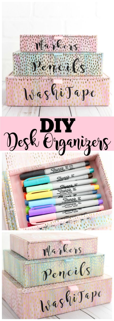 diy desk organizers storage pinterest desk organization diy diy desk and diy room decor. Black Bedroom Furniture Sets. Home Design Ideas