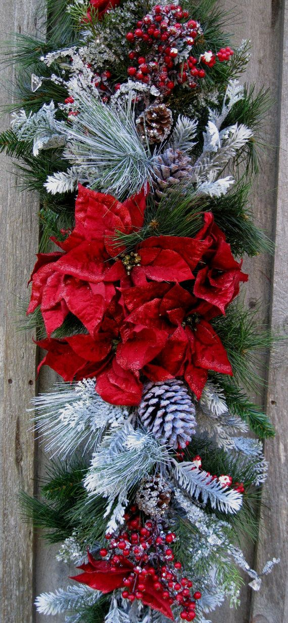 662 best christmas swags garlands images on pinterest for Christmas swags and garlands to make