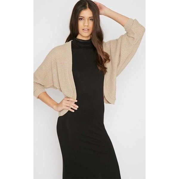 Alainia Beige Long Sleeved Batwing Waffle Cardigan ($5.17) ❤ liked on Polyvore featuring tops, cardigans, camel, long sleeve batwing top, long sleeve tops, batwing tops, lightweight cardigan and light weight cardigan