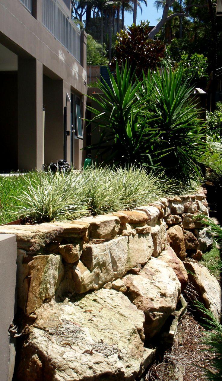 Sandstone walls and yukkas