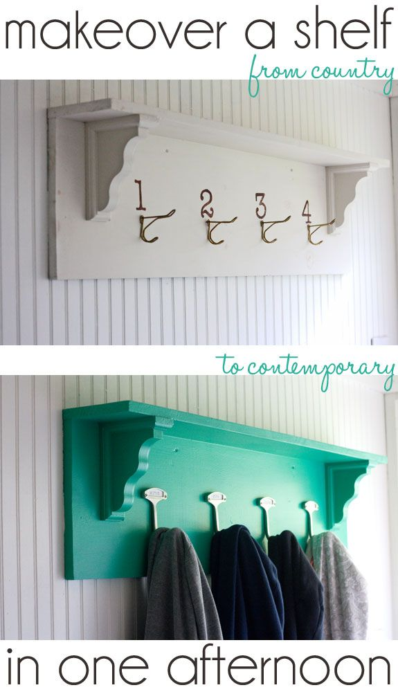 Simple DIY shelf makeover