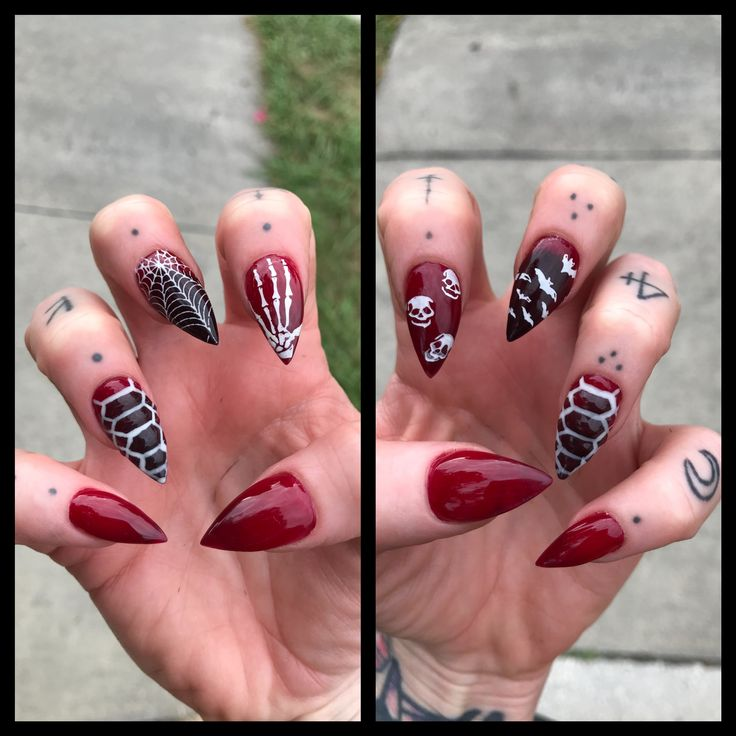 Halloween stiletto nails | Halloween nails, Nails, Nail art
