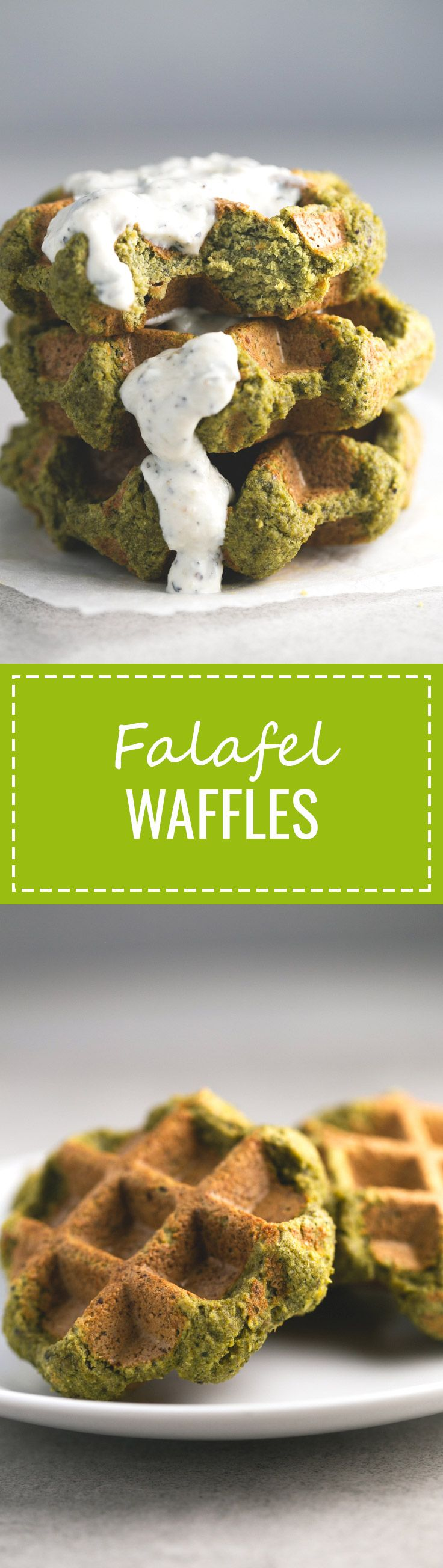 (Vegan and GF) Falafel Waffles - We make this falafel waffles all the time because they're ready in just 7 minutes, are low in fat, affordable and so delicious!
