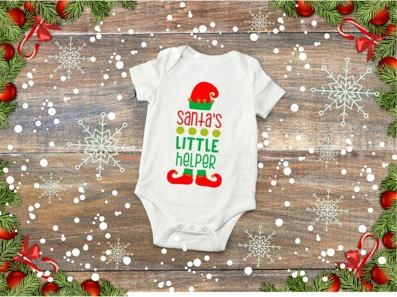 Christmas shirt first Christmas outfit Girls Christmas Shirt Santa/'s Helper- Santa outfit