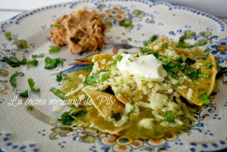 La cocina mexicana de Pily: Básicos: tradicionales chilaquiles verdes