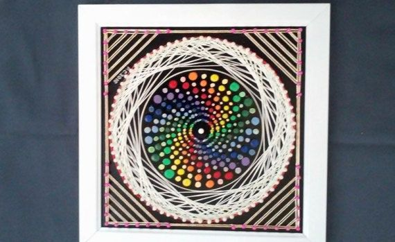 Colourful Swirl String Art by SmARTcraftBoutique on Etsy