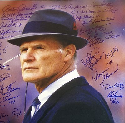 1970s Dallas Cowboy Players | 1970s Cowboys Greats Team Signed Tom Landry Close Up Photographie