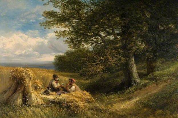 Cole, George, (1833-1893), The Harvesters, 1881, Oil