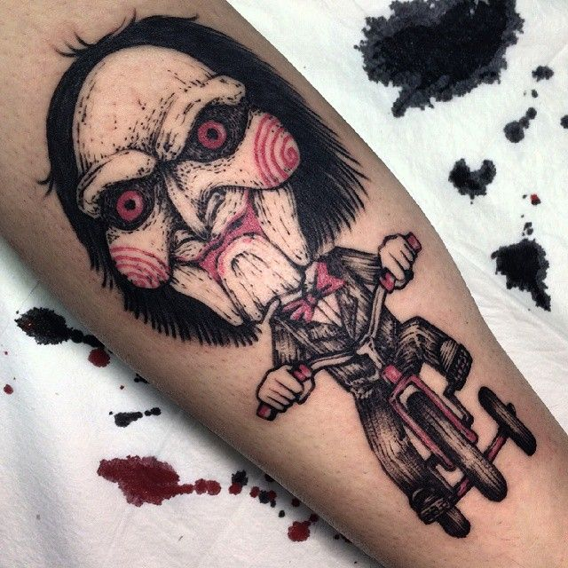 Jigsaw tattoo by 임휘진