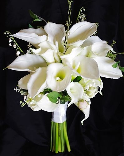 Touch Seide Calla Lily Hochzeitsstrauss Calla Lily Wedding Bouquets