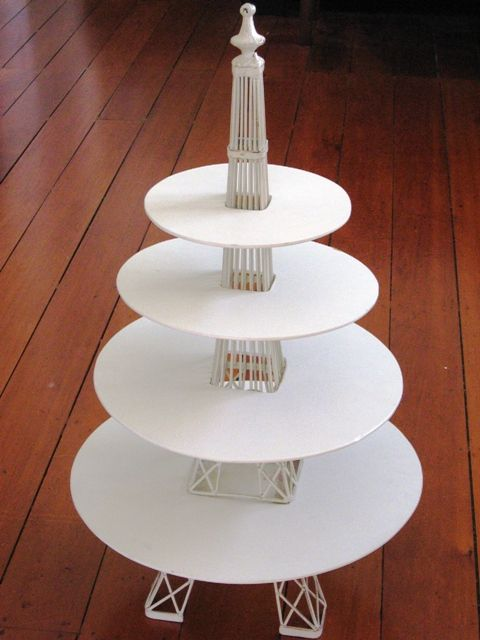 Like this: Eiffel Tower 3 tier cake stand. Parisienne Halloween,  Frightening French Fête.
