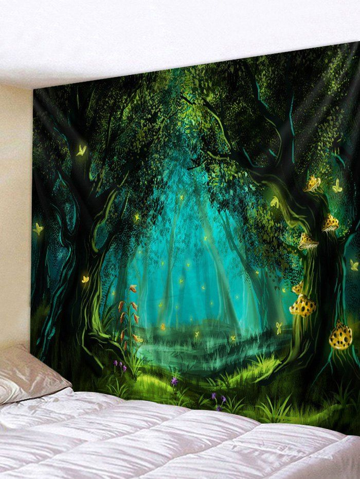 Forest Bridge  Wall Hanging Tapestry Psychedelic Bedroom Home Decoration