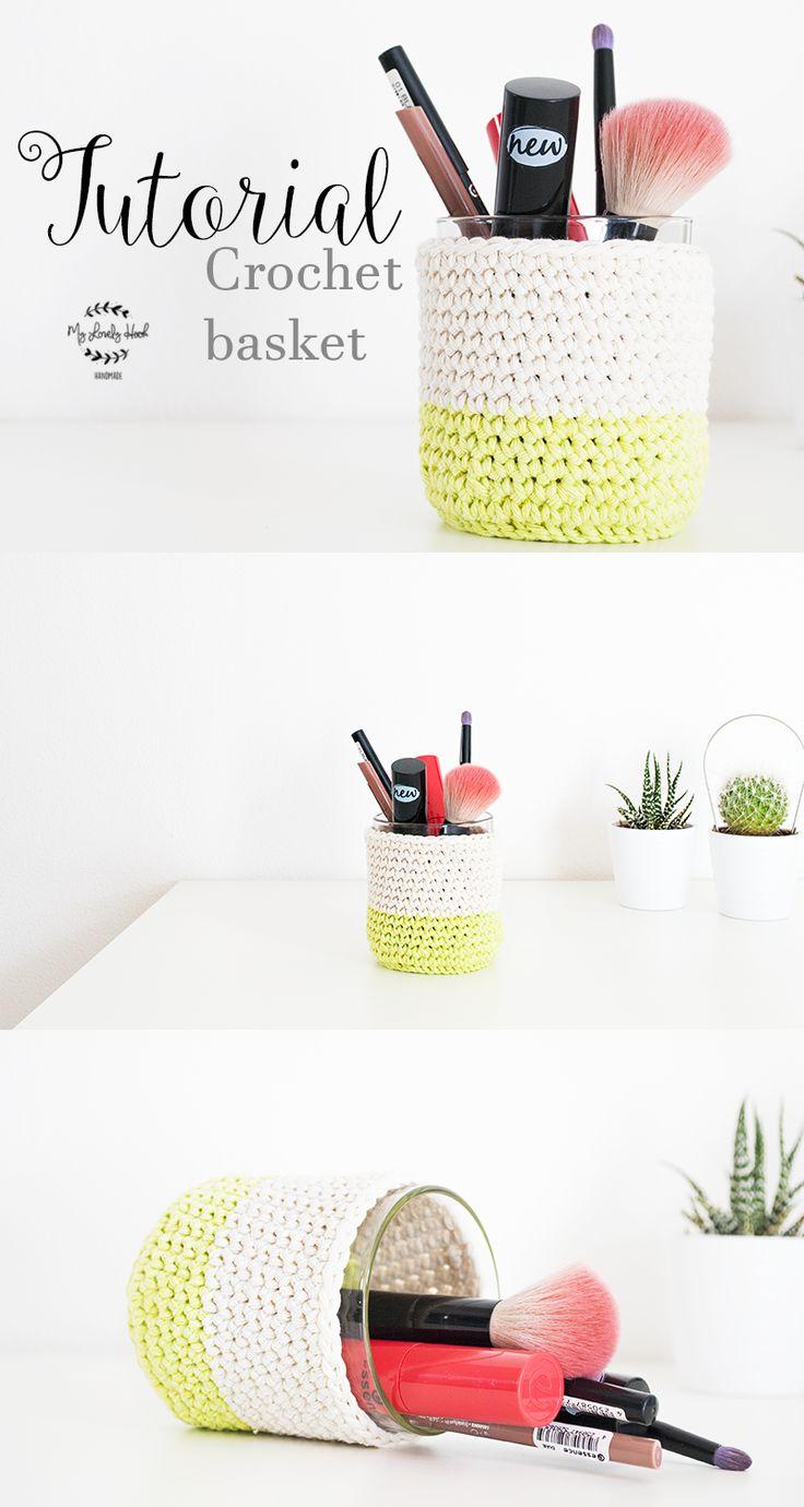 FREE crochet basket pattern by MyLovelyHook