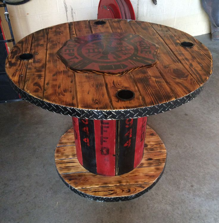 Wooden cable spools on pinterest wooden spool tables wire spool - 24 Best Images About My Creations Cool Spool Crafts Co On