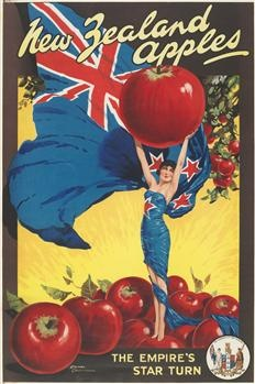 Poster, 'New Zealand Apples' - Museum of New Zealand Te Papa Tongarewa - Love it!