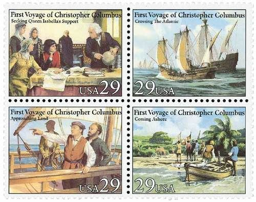 1992 29c Voyage of Columbus, Block of 4 Scott 2620-23 Mint F/VF NH  www.saratogatrading.com