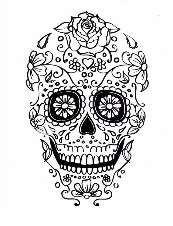 mexican sugar skull coloring pages - photo#24