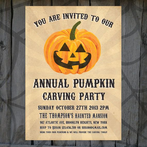 20 best halloween party invitation templates images on pinterest havens velvet pumpkin has been featured in a treasury halloween home decors by jenny stopboris Images