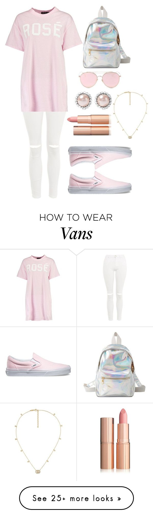 """""""Untitled #284"""" by fashionadda on Polyvore featuring Charlotte Russe, Topshop, Boohoo, Vans, LMNT, Miu Miu and Gucci"""