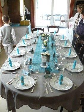 Conseils déco de table bleu et gris