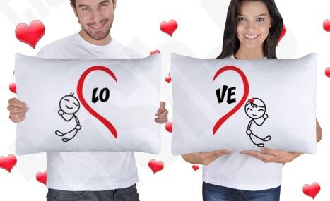 Birleşen Kalpler Yastık Kılıfları  #love #pillow #case #yastık #groom #bride #gelin #damat