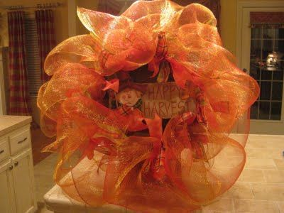 thanksgiving wreathThanksgiving Wreaths, Holiday Ideas, Crafts Ideas, Ribbons Wreaths, Fall Wreaths, Wreaths Ideas, Deco Mesh Wreaths, Halloween Wreaths, Autumn Wreaths