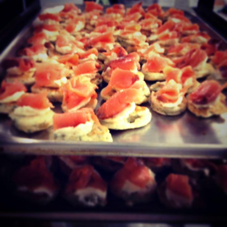 Mmm...homemade Scottish smoked salmon blinis