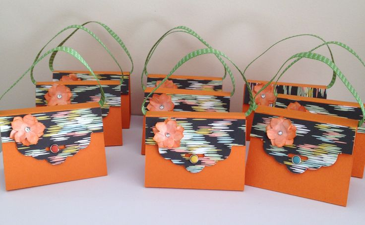 my little hand bags using the tag punch
