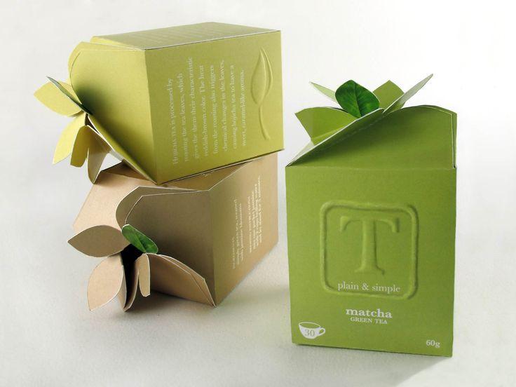 Embalagens de Chá verde com design Inovador!   Designed by Coby Mcdougall Design