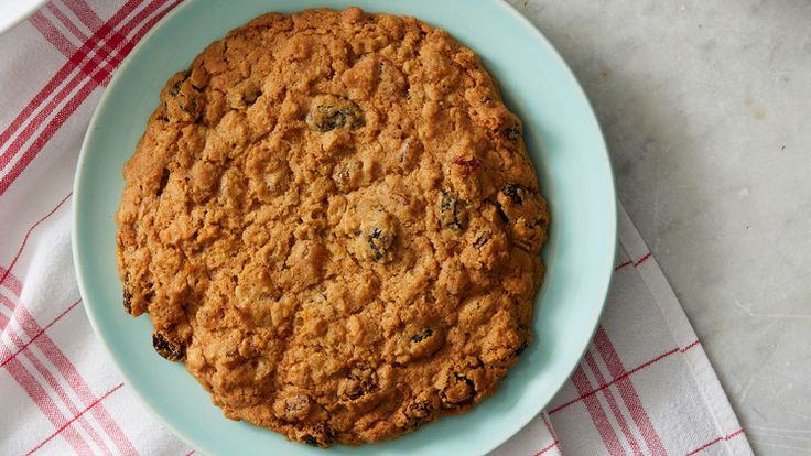 Giant Oatmeal-Raisin Cookies