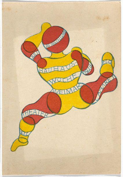 Frizzifrizzi » Tesori d'archivio: 20 cartoline disegnate da studenti e insegnanti del Bauhaus nel 1923