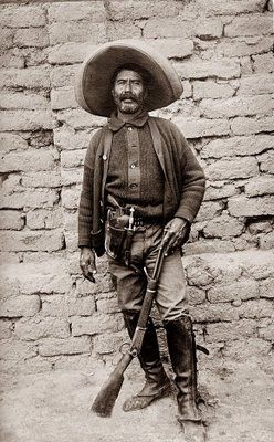 Unknown Mexican bandit ... possibly one of Pancho Villa's men? Whoever he was, I doubt he was a man to be trifled with.