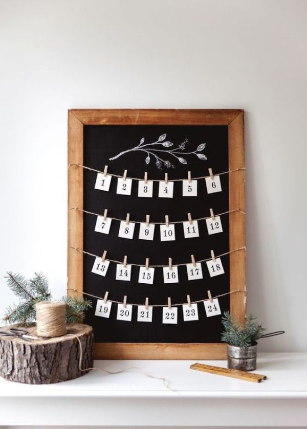 DIY holiday calendar: http://www.stylemepretty.com/living/2016/11/29/the-cutest-ways-to-count-down-to-st-nicks-arrival/