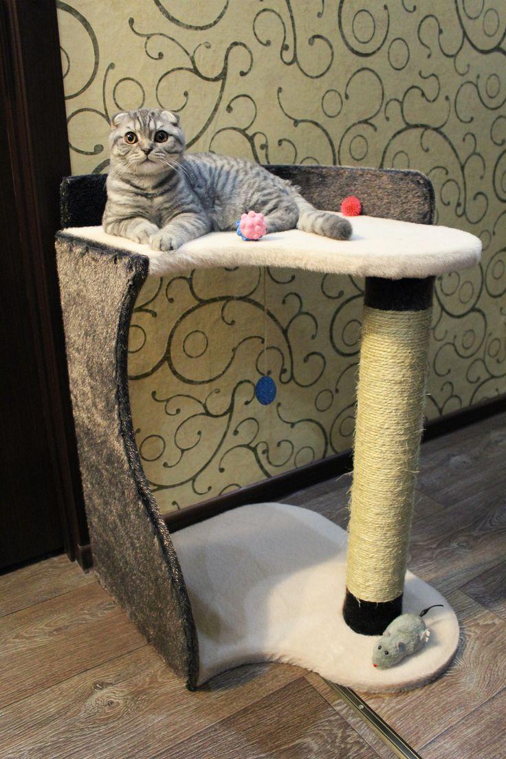 """http://kogtetochki.com/product/50 Когтеточка """"Волна"""" от Интернет-мастерской """"Усатый-Полосатый"""" cat post, cat scratcher, cat condo"""