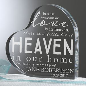 Create a gift that will honor their legacy with this Heaven In Our Home Personalized Memorial Keepsake. Find the best personalized memorial gifts at PersonalizationMall.com