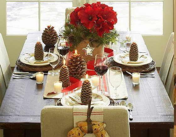 Сервировка новогоднего стола, prazdnichnyj dekor
