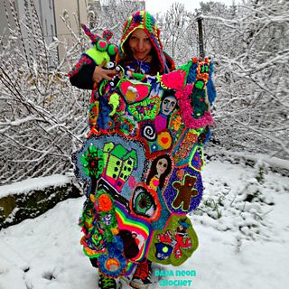 """This pattern is a Crochet Along Freeform project with a weekly new puzzle piece! It is called """"YOUR Personal Freeform CAL"""" because it encourages to go own ways as well. Every project is unique, we've left regular patterns & use our hook as a brush to paint our blankets with yarn…"""