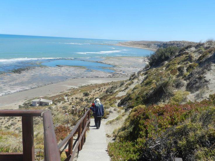 Madryn. La mirada de Flor - Escaleras en punta Delgada - Península Valdes