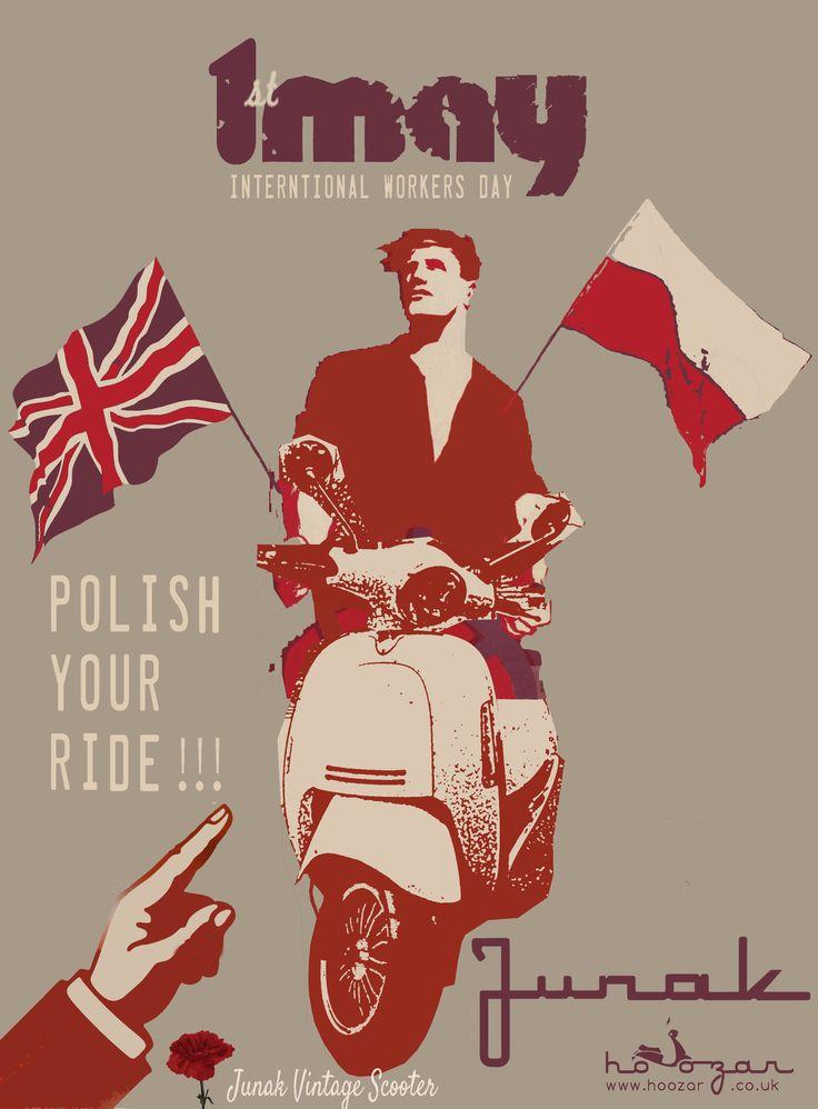 Polish your ride! #MayDay #InternationalLabourDay2015 #May1st #scooter #Junak #PolishYourRide #swietopracy #majowka