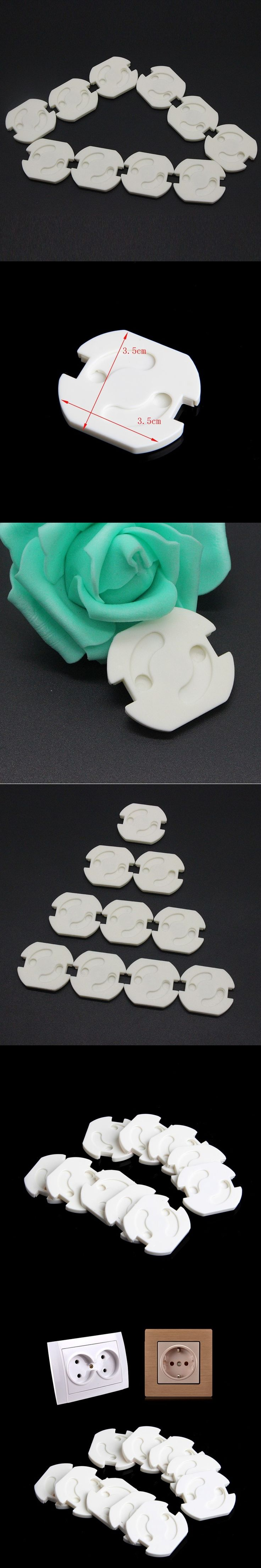 Safety EU Stand Power Socket Cover Electrical Outlet Baby Child Safety Guard Electric Shock Proof Plugs Protector Rotate Cover