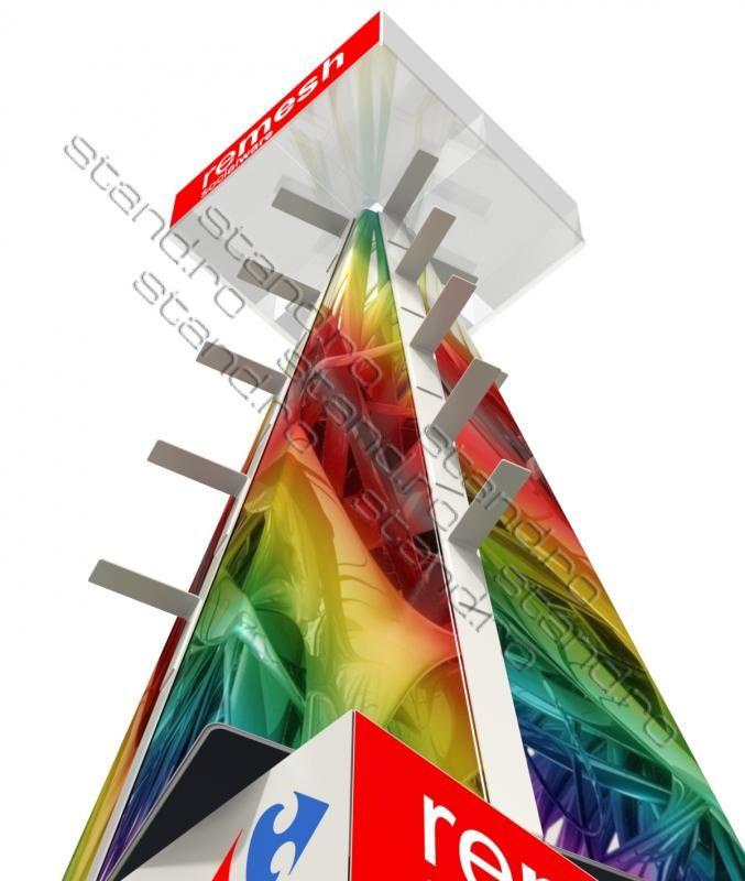 Stand display rotativ cu carlige pentru blistere model-1088