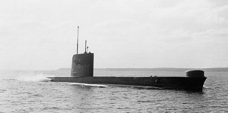 Retired Royal Canadian Navy HMCS Ojibwa, a cold war Oberon Class submarine.