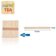 Palitos de madera ideales para manualidades. Las medidas son 11 cms x 1 cm. 50 unidades