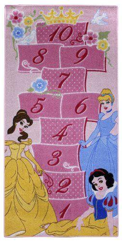 Disney Princess Childrens Royale Hopscotch Bedroom Rug 2ft 6 X 5ft 3