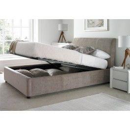 Sleep Sanctuary // Serenity Upholstered Ottoman Storage Bed - Mink - £379.00
