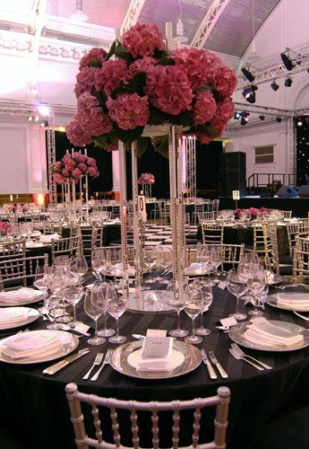 Table set at the Lindley Hall