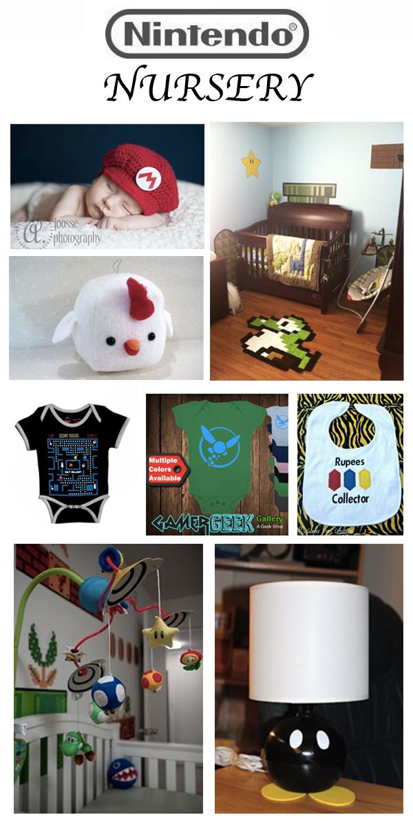Geek Baby Nursery Inspiration @Candace Fuller  , I'm sure this can be adapted into an older boy's room!