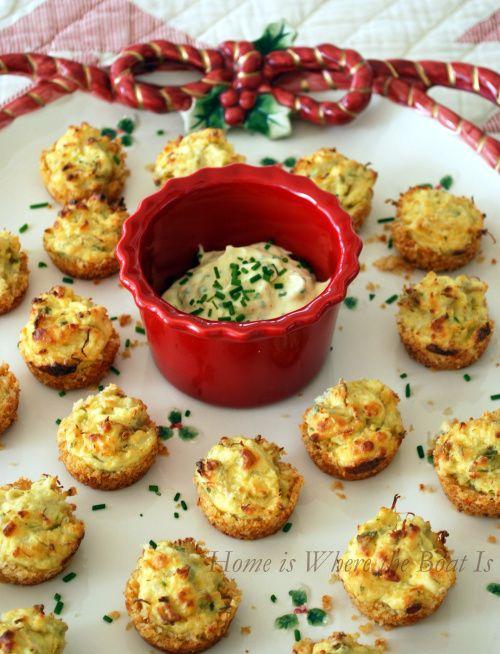 Parmesan Crusted Crab Cake Bites! These sound amazing, I LOVE crab cake!